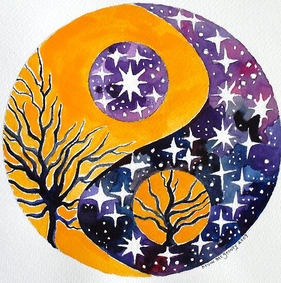 Yin-Yang space trees by Kevin McGeeney