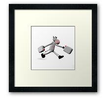 cow carrying two cans of water Framed Print
