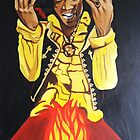 Jimi Hendrix Fire by signaturelaurel