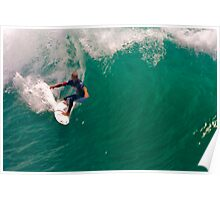 Kelly Slater US Open going for the pier Poster