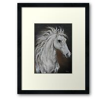 "White Horse ""Higher Mind""   Framed Print"