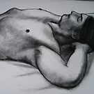 Male Torso, reclining. by Bill Proctor