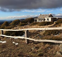 Craig's Hut, Winter Afternoon, Mt Stirling, Australia by Michael Boniwell