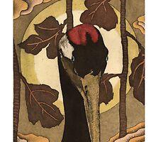 Red Crane by neal farncroft
