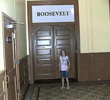 orbs around shyla by the Roosevelt Room by Kevin McGeeney