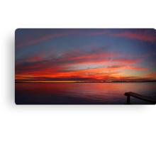 Swan River Sunset (Multi Row Panorama)  Canvas Print