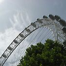 London Eye Against A Blue Sky by ValeriesGallery