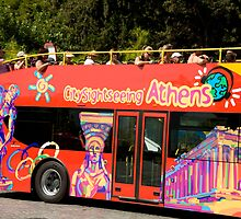 Sightseeing Red Bus by phil decocco