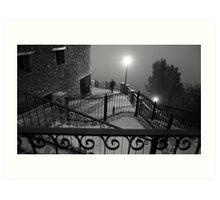 A stranger in the fog Art Print