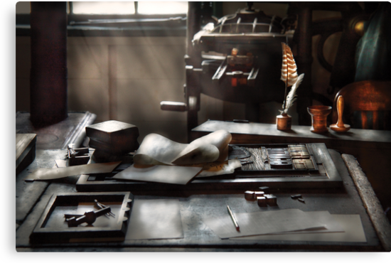 Graphic Artist - At the Printers Office by Mike  Savad