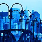 Lamps In Blue by Beth Achenbach