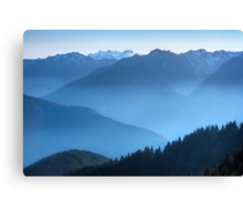 Hurricane Ridge at sundown. Olympic National Park. Washington State. USA. Canvas Print
