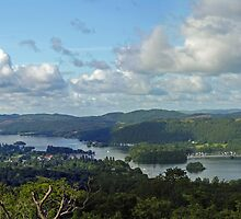 Panorama of southern Lake Windermere from Orrest Head, north-west England by Philip Mitchell