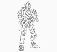 Pixel Art Spartan Halo 3 by Freshmilk