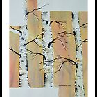 Breakout Birch original watercolor by Matt Moberly