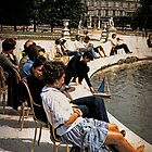 Sunning in the Tuilleries, 1977 by Linda Gregory