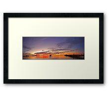 Esplanade Jetty At Dusk  Framed Print