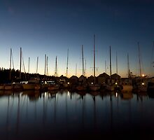 Marina at dusk by S A Stevens