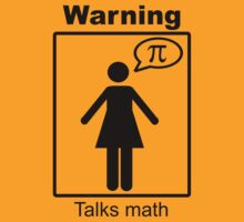 Warning: Talks math (skirt) T-Shirt