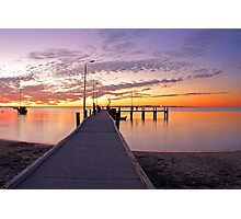 Esplanade Jetty At Dusk  Photographic Print