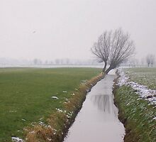 Winter in Langbroek by Hans Bax