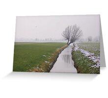Winter in Langbroek Greeting Card