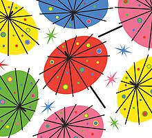 Parasols - card by Andi Bird