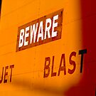 Beware!!! Hangar Door at the Airport by Buckwhite