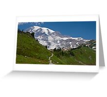 Mt. Rainier from the Alta Vista Trail, Paradise Greeting Card