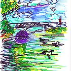ALLEGHENY RIVER WITH DUCKS by monaruth
