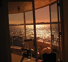 Cruise boat window, lake Washington, Seattle by Igor Pozdnyakov