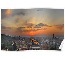 Florence Sunset Poster