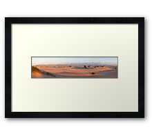 Dunes at sunset 2 Framed Print