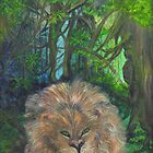 Lying Lion by Mikki Alhart