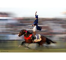 DOUBLE HORSE RIDER Photographic Print