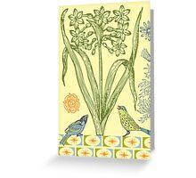 Yellow Bird Ornamental - card  Greeting Card