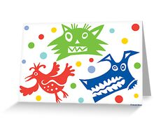 Bad Critters ll -  card  Greeting Card