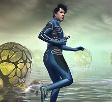 Venture Accross the Alien Lake Pods by mdkgraphics
