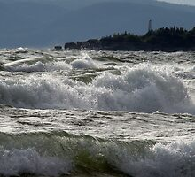 Waves off of Pebble Beach, Marathon Ontario Canada by loralea