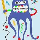 Birthday Doodler ll  - Card  by Andi Bird