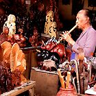 Flute Player in Ubud Market, Bali by JonathaninBali