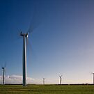 Wattle Point Windfarm in Motion by AllshotsImaging