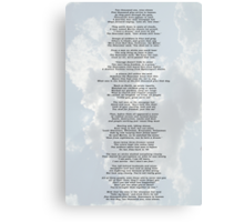 Conversations in Heaven on 9/11 Canvas Print