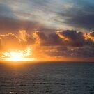 Sunset over Tasman sea in New Zealand by yurix