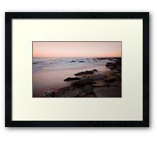 Towoon Bay rockside Framed Print