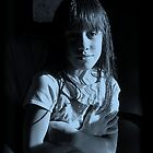 Young girl bathed in moolight, age 8 by Dave P