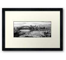 The City -  A Study in Black & White- HDR Experience Series Framed Print