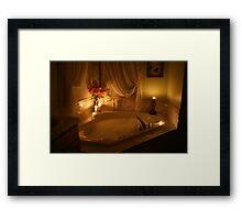 Candlelight Bath Framed Print