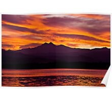 Twins Peak Sunset Poster