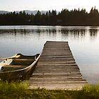 Row Boat on Savage Lake, MT by Peter Kearns